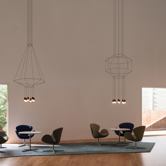Hanging lamps wireflow from vibia international