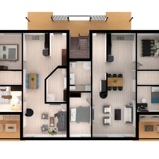 Galeria Arquitectonica: Galeria De Plantas Arquitectónicas 3D