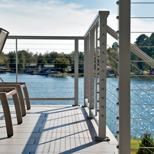 DesignRail® Aluminum Railing Systems with Horizontal Cable Infill
