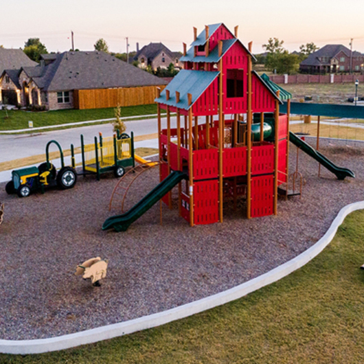 Playground at Stone Ranch Community in Wylie, TX / Superior Recreational Products