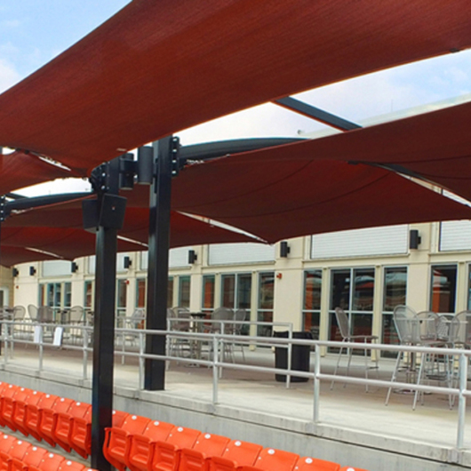Tennis Stadium Shade at Oklahoma State University