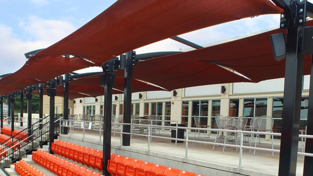Tennis Stadium Shade at Oklahoma State University