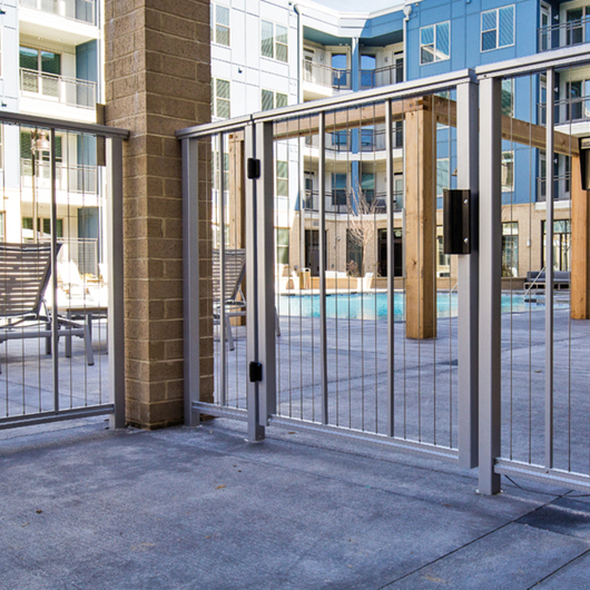 DesignRail® Aluminum Railing Systems with Vertical Cable Infill / Feeney