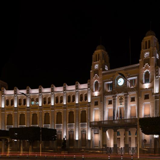 SCULP Ilumina el Palacio de la Asamblea en Melilla