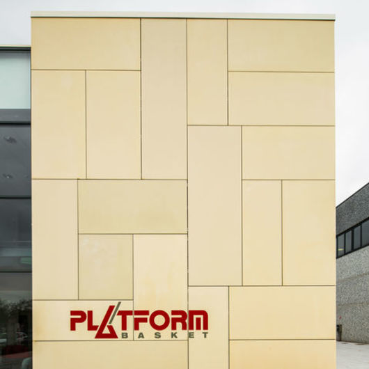 Rainscreen Cladding Panels in Platform Basket Office