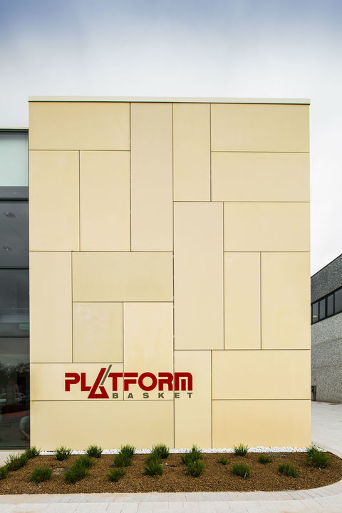 UHPC Rainscreen Cladding in Platform Basket Office