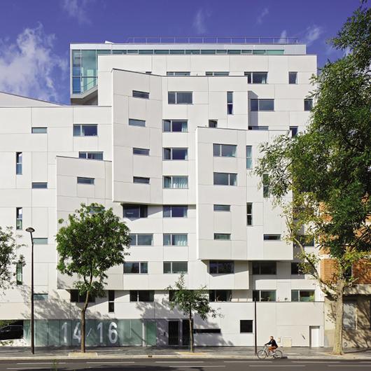 Rainscreen Cladding Panels in Student Residence - Paris