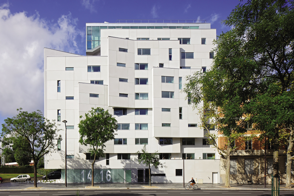 Rainscreen Cladding Panels in Student Residence - Paris