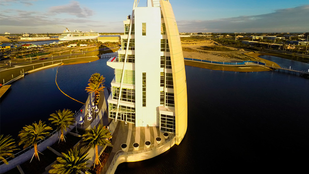 Fire Retardant ACM Panels  in Port Canaveral Exploration Tower