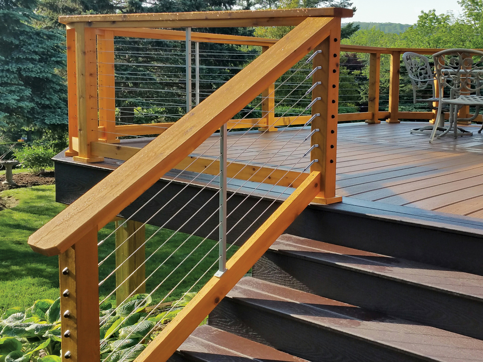 CableRail Stair Kits for Wood Railings