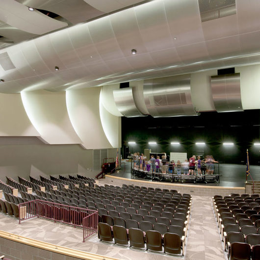 Ceiling System - Radians® – Curving Modular Panels / USG Ceilings