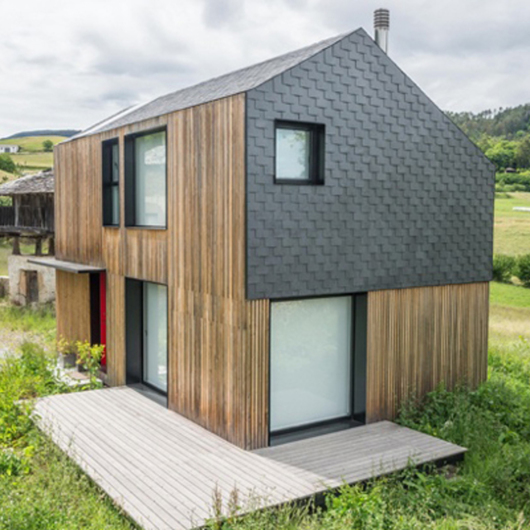 Natural Slate in Modular Housing / Cupa Pizarras