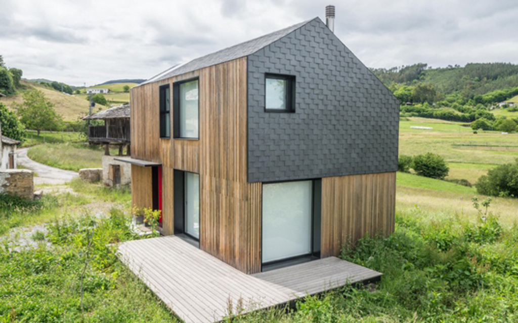 Natural Slate in Modular Housing from Cupa Pizarras