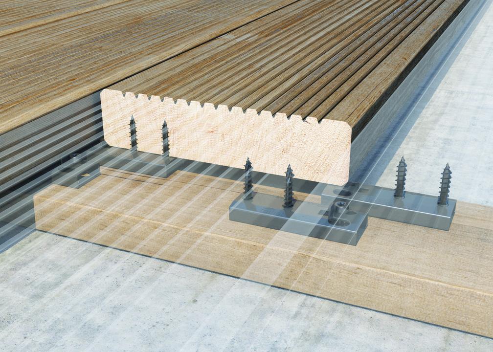 Fasteners for Wooden Decks and Facades TERRALOCK and VERTILOCK