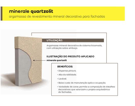 Detalhes - Argamassa de Revestimento para Fachadas - Minerale LR e M - Weber Quartzolit