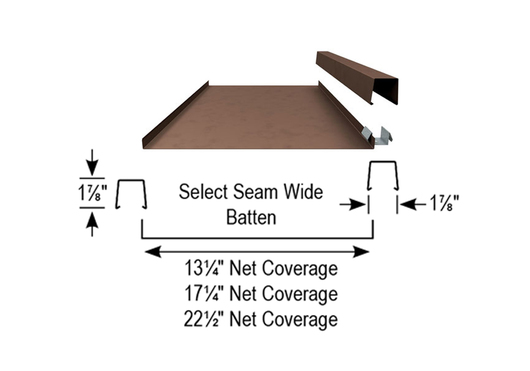 Metal Roof System Select Seam Wide Amp Narrow Batten From
