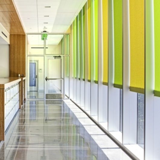 FlexShade® Roller Shades in Wells Hall - Michigan State University / Draper