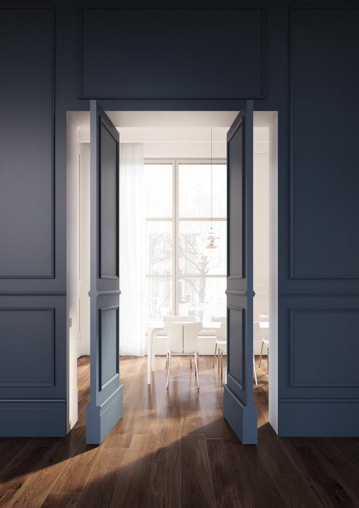 Linvisibile puerta pivotante de eje vertical   Brezza