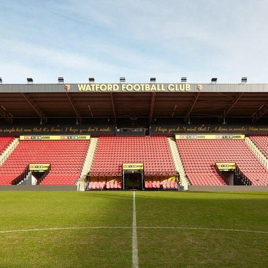 Revestimientos cerámicos en Estadio Watford FC / Porcelanosa Grupo