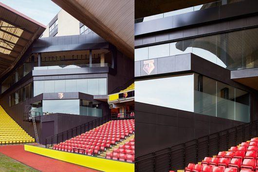 Porcelanatos Serie XLight en Watford FC, Reino Unido