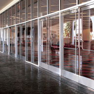 All-Glass Entrances Featuring DRS Wedge-Lock Door Rail System