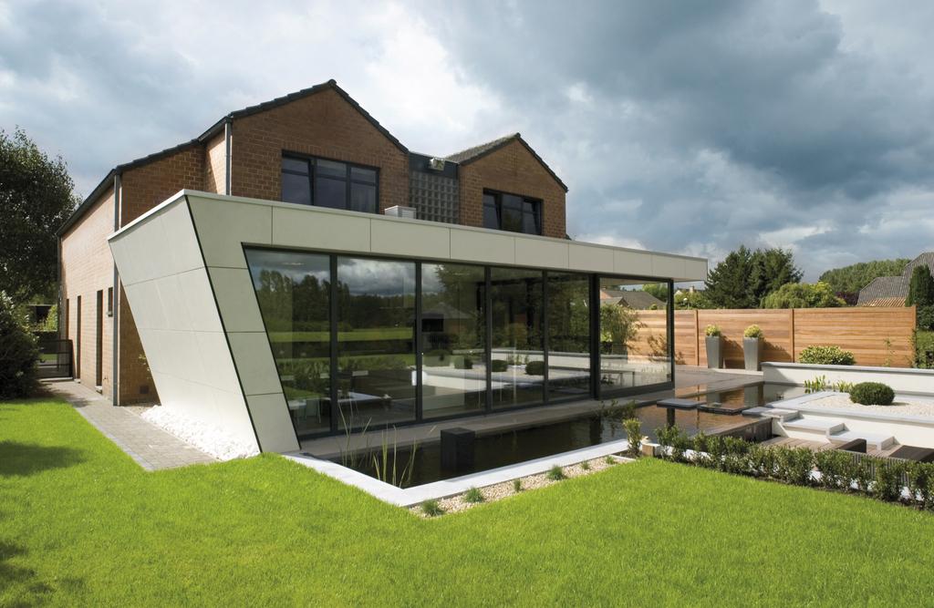 Revestimiento Natura, Casa ampliada en Bélgica
