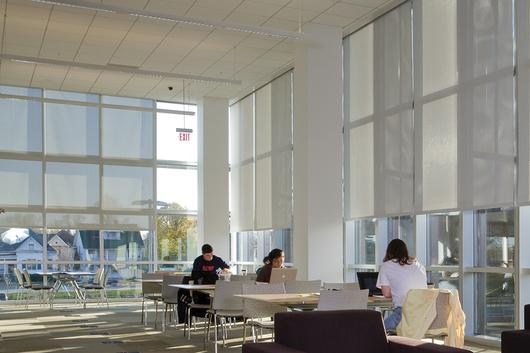 Location: Champaign Public Library, Champaign, IL. Architect: Ross Barney Architects, Chicago, IL. Dealer: Real Designs, Champaign, IL. Photography by Barry Rustin, Evanston, IL.