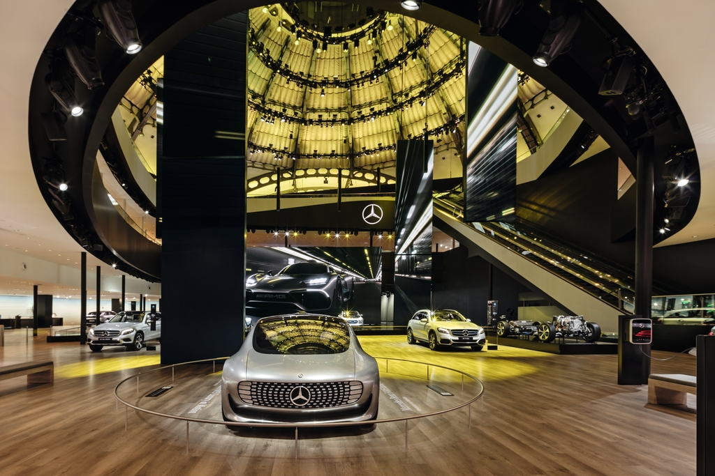 EGGER PRO Laminate Flooring for Mercedes Exhibition Stand IAA