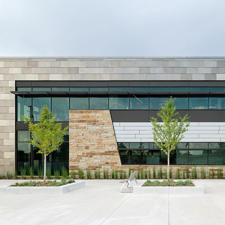 Fiber Cement  Panels in Neptune Office Building