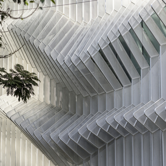 Perforated Steel Facade - Lokmanya Bank
