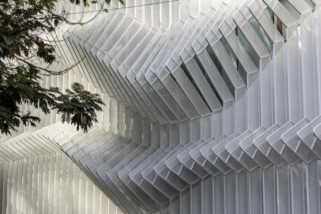 Perforated Steel Facade - Lokmanya Bank