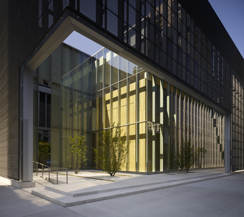 The Poetry FoundationPerforated VMZ Corrugated in ANTHRA-ZINC