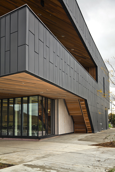 Exterior Metal Cladding : Wall panel dri design from vmzinc