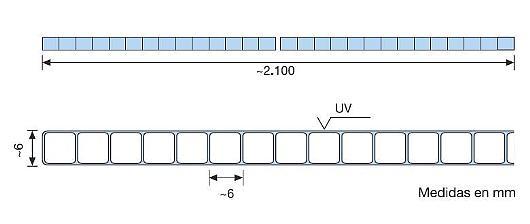 Makrolon® multi UV 6mm 2 paredes