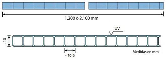 Makrolon® multi UV 10mm 2 paredes