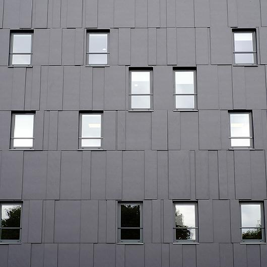 Fiber Cement Cladding Panels in B66 Business Center / Swisspearl