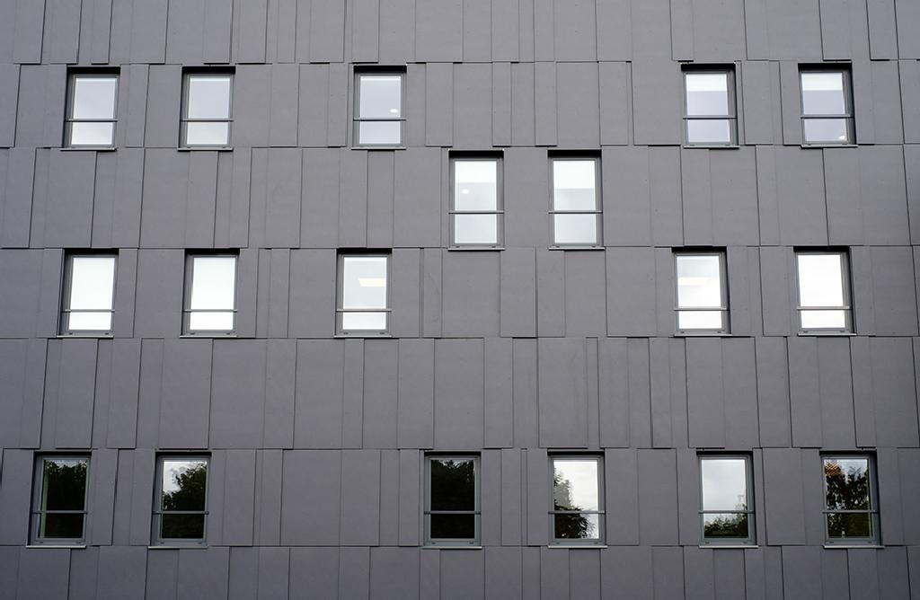Fiber Cement Cladding Panels in B66 Business Center