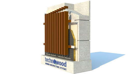 Technowood profile facade example