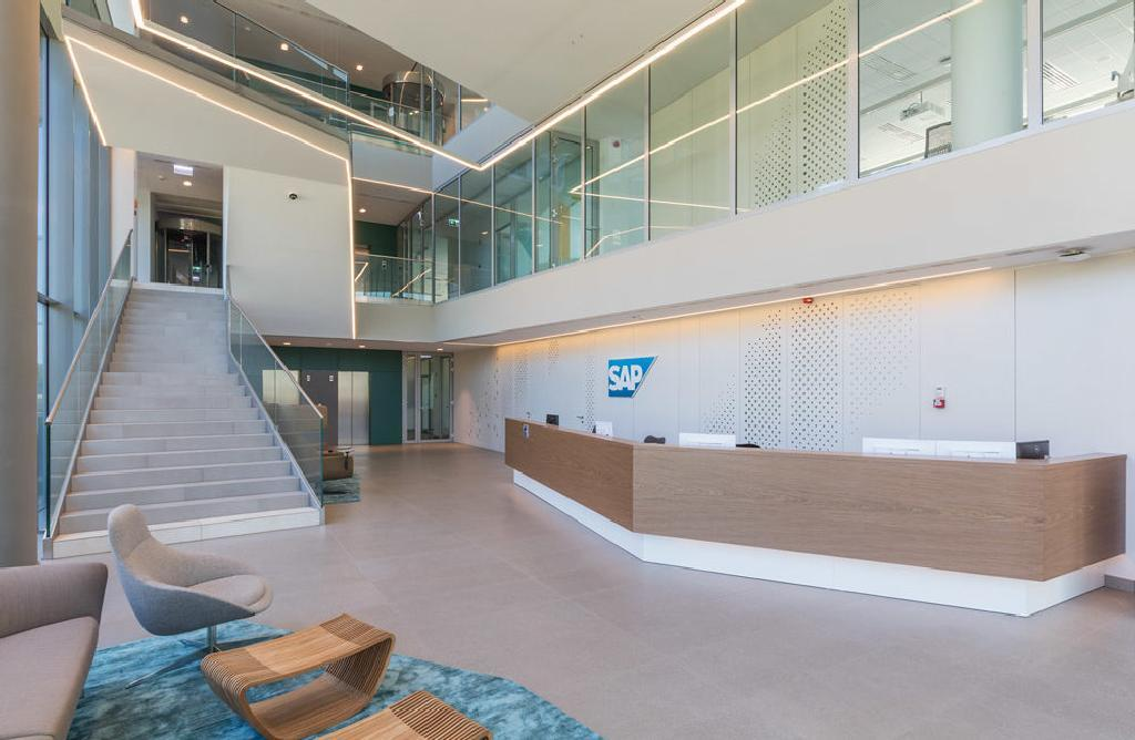 Fiber Cement Cladding Panels in SAP Corporate Office