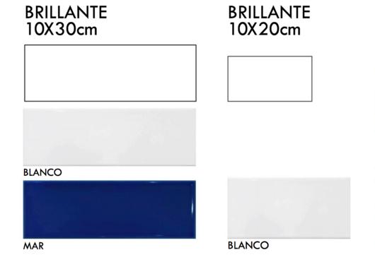Cerámico Liso Brillante 10x20cm y 10x30cm