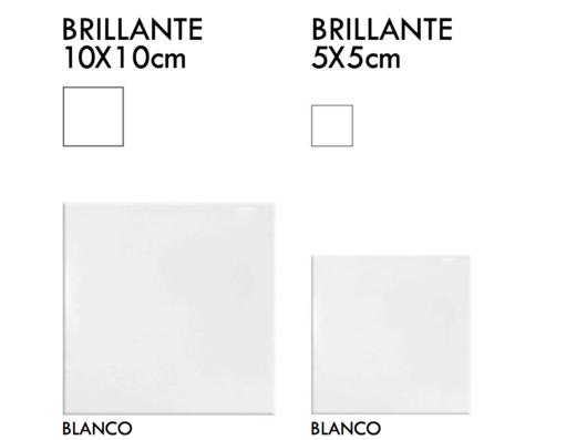 Cerámico Liso Brillante 10x10cm y 5x5cm