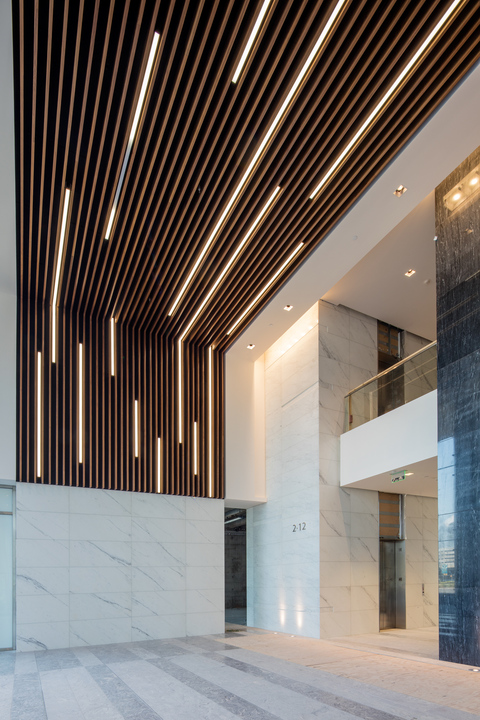 Ceiling & Wall System - Solid Wood Grill