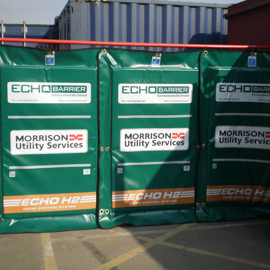 Echo Barrier Temporary Fencing / Acoustical Surfaces