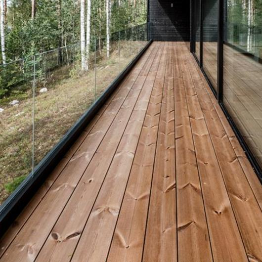 Thermowood Cladding and Decking in Project Ö / Lunawood
