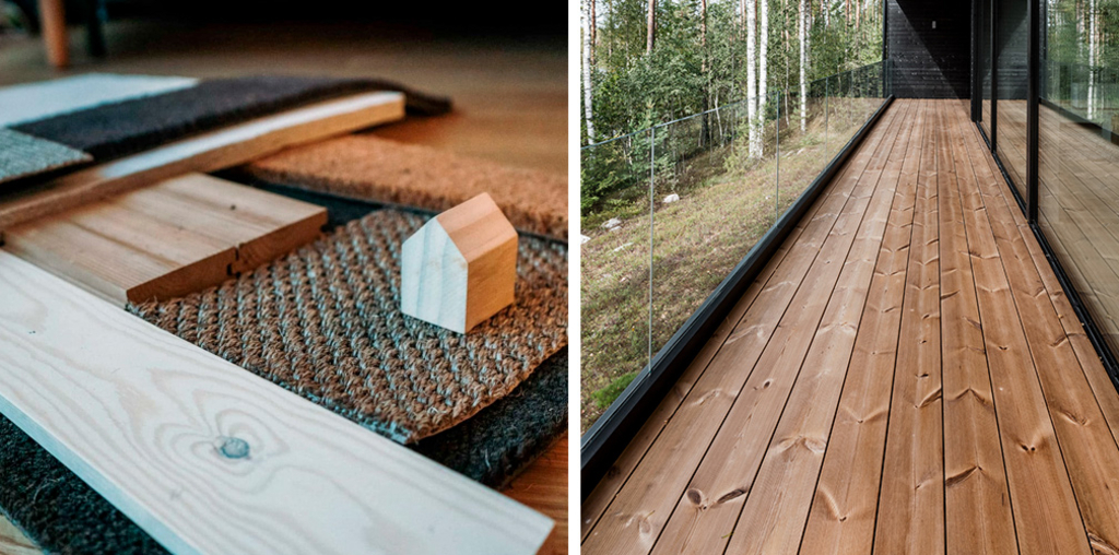 Thermowood Cladding and Decking in Project Ö
