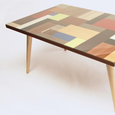 Melamina en mesa de madera por Pablo Llanquin / Masisa