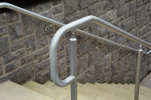 AL Post/Wall Mount Handrail | Hollaender