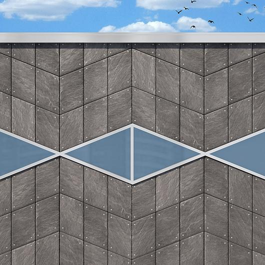 CUPACLAD Natural Slate - Wave Design / Cupa Pizarras