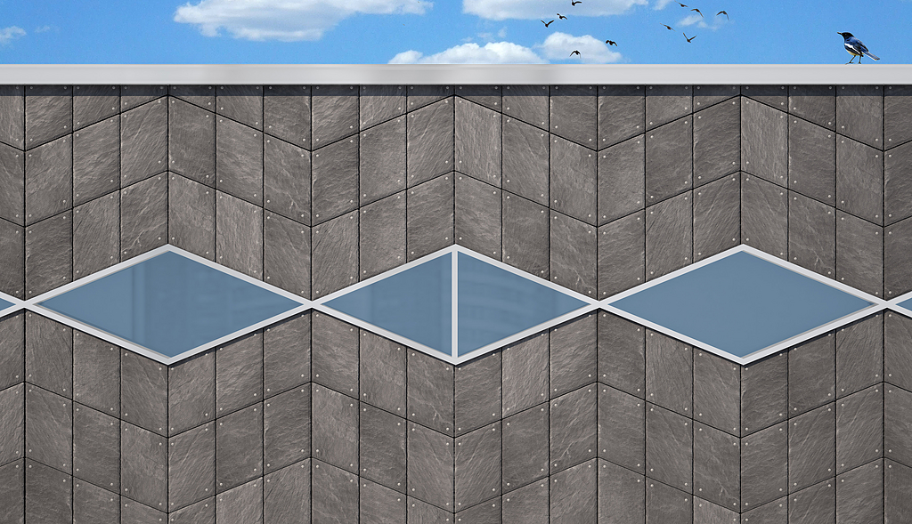 CUPACLAD Natural Slate - Wave Design