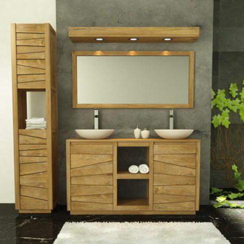 Muebles de Baños en Madera de Teca, Serie Lavamanos Dobles de Ignisterra